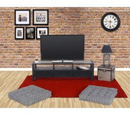 meuble tv park avenue noir mat meubles tv but. Black Bedroom Furniture Sets. Home Design Ideas