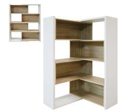 Biblioth�ques - Bibliothèque modulable INGENUE Blanc et chêne
