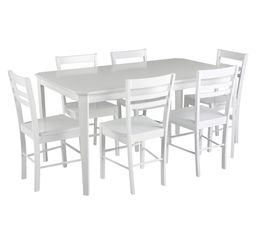 Table + 6 chaises LUCIE Blanc