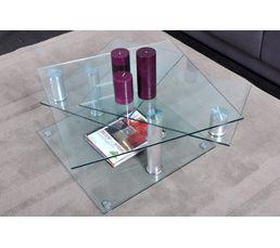 Tables Basses - Table basse DINO 2 verre et chromé