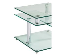 Table basse DINO 2 verre et chrom�