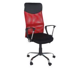 Chaises Et Fauteuils - Fauteuil de bureau LEADER Noir et rouge