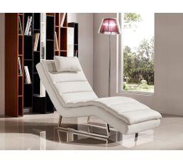 Fauteuils - Chaise longue PEACE simili blanc