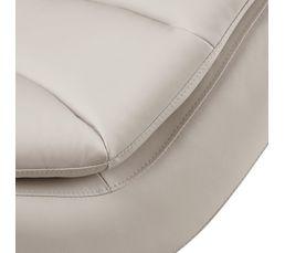 Chaise longue PEACE simili blanc
