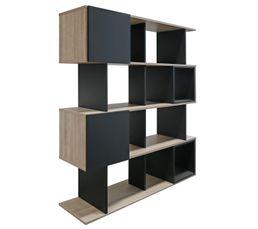 Biblioth�ques - Bibliothèque JULIETTE Chêne et noir