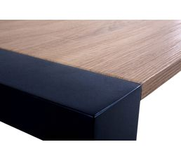 Table rectangle + 2 allonges CAMDEN Chêne sonoma/noir