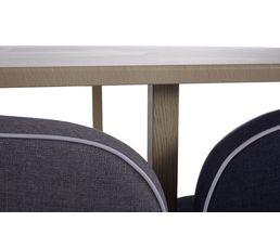 Table + 4 chaises MELO Bois/bleu