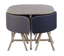 table 4 chaises melo bois bleu tables but. Black Bedroom Furniture Sets. Home Design Ideas