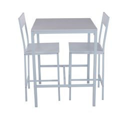 Tables - Mange debout + 2 tabourets LISA Blanc