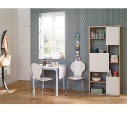 Table avec allonges LISA Blanc