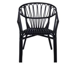 fauteuil GOA Rotin noir