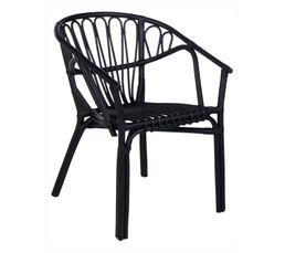 GOA Chaise Rotin noir