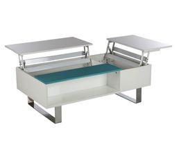 Table basse HAMPTON Blanc et bleu