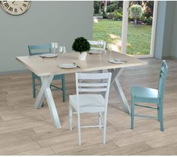 Tables - Table de séjour CAMPANA Bois et blanc