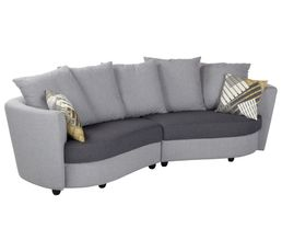 Canapé 3 places Tissu gris et jaune OASIS