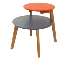 Tables Basses - Bout de canapé FLYS Gris et orange
