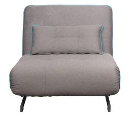 fauteuil convertible lit gris et bleu melou fauteuils but. Black Bedroom Furniture Sets. Home Design Ideas