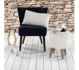 Fauteuil harry tissu velours bleu marine fauteuils but - Fauteuil bleu marine ...