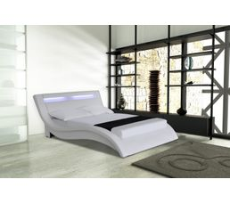lit 140x190 cm avec leds light blanc lits but. Black Bedroom Furniture Sets. Home Design Ideas