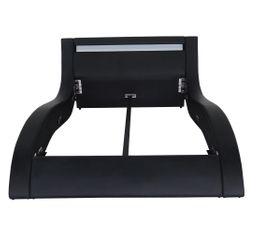 Lit 140x190 cm avec Leds  LIGHT Noir