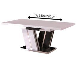 Table extensible STELLAR Blanc et noir