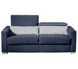 Canap� convertible 3 places NOAH Tissu Bleu nuit/Gris clair