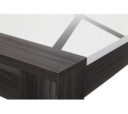 Table basse LINES Bois gris et blanc