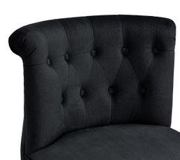Fauteuil Crapaud SARAH Tissu Noir