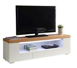 Nature et contemporain, le meuble TV KLYND s'intègrera parfaitement à votre intérieur Pratique, il dispose de 2 portes, d'un tiroir et d'une grande niche de rangement On aime : son bandeau LED blanc ! Dispo pcs détachées donnée fournisseur : NC Structure
