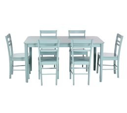 Table + 6 chaises LUCIE Celandon