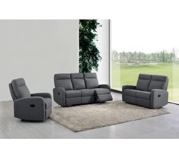 fauteuil relax oscar tissu gris clair fauteuils but. Black Bedroom Furniture Sets. Home Design Ideas