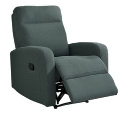 OSCAR Fauteuil Relax Tissu gris anthracite