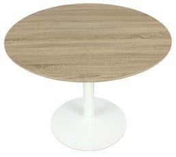 Table de séjour SHANNA Chêne et blanc