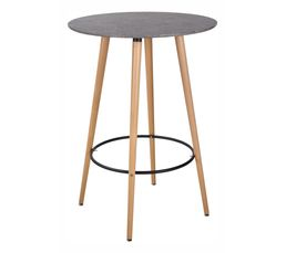 Type de table mange debout table pas cher for Ilot mange debout