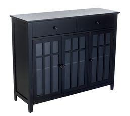 DANAE Buffet 3 portes/2 tiroirs Noir