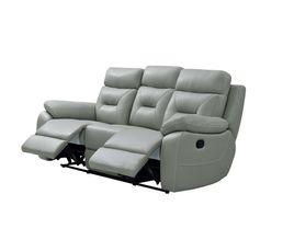 Canapé relax 3 places EDGAR Cuir gris