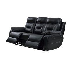 Canapé relax 3 places EDGAR Cuir noir