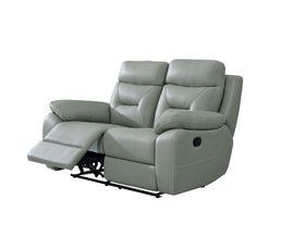 Canapé relax deux places EDGAR Cuir gris