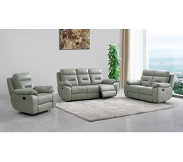 fauteuil relax edgar cuir gris fauteuils but. Black Bedroom Furniture Sets. Home Design Ideas