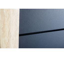 Lit 140x190 cm ENEL Coloris chêne et noir