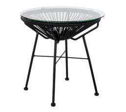GARDEN Table basse fixe Noir