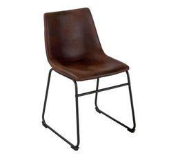 Chaise ROMANE Marron vintage