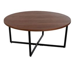 FANNY Table basse ronde Ø80 Noyer
