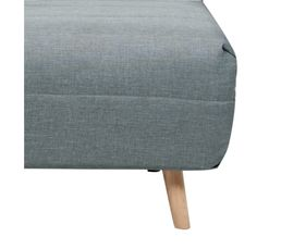 Fauteuil convertible lit Tissu gris/bleu IGLOO