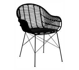 Chaise rotin PAPAYA Noir