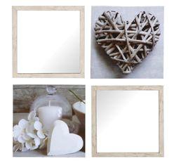 Toiles - Set de 2 miroirs + 2 toiles COSY Beige