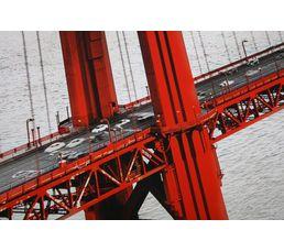 Set de 5 toiles 150X100 SAN FRANCISCO Beige/Rouge