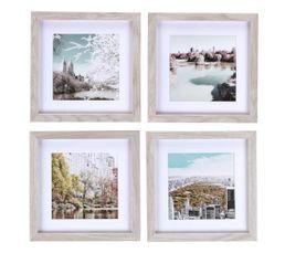 Photographies - Set 4 images encadrées 50X50 NY PASTEL Beige