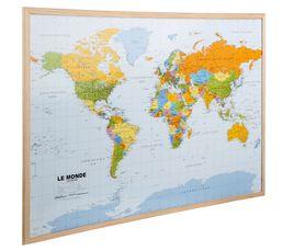 Mémo liège 90x60 cm MAP MONDE Beige