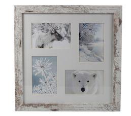 Photographies - Cadre multivues 38x38cm POLAIRE Blanc